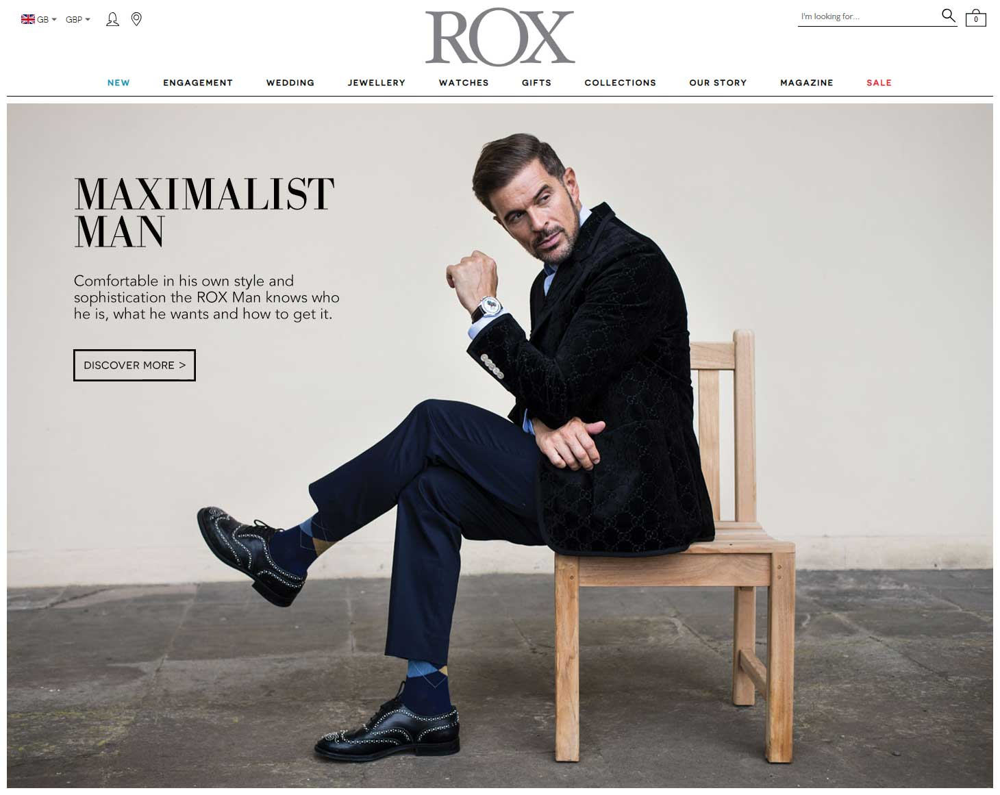 Responsive menu redesign for ROX Jewellers