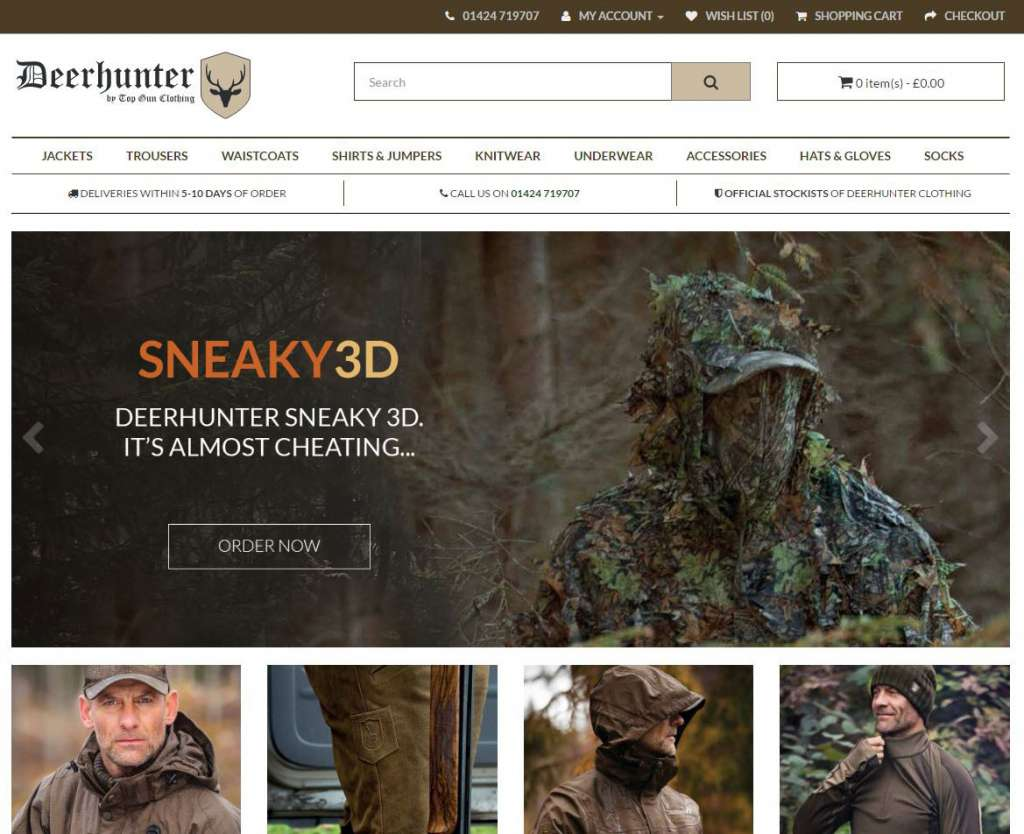 Deerhunter Clothing Ecommerce Website