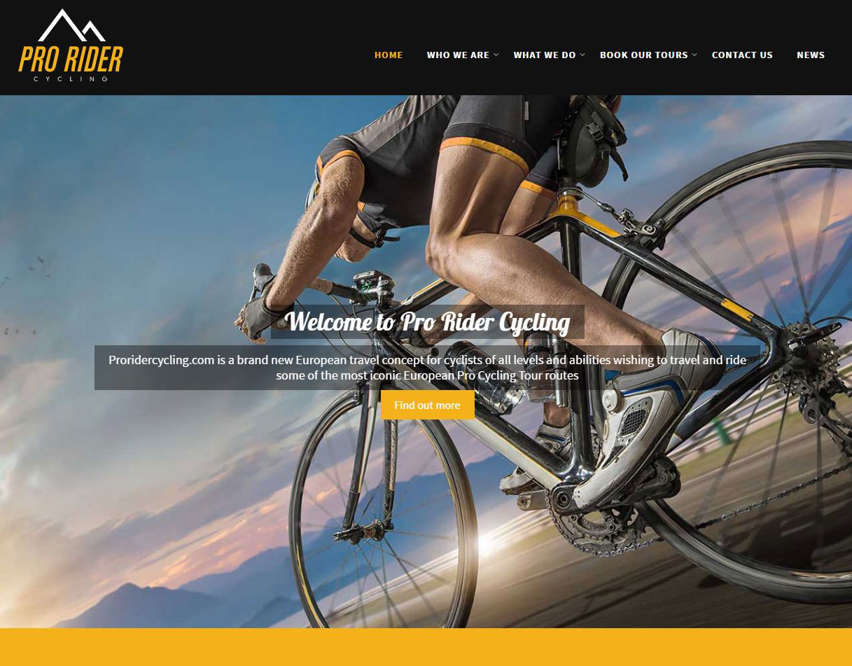 CMS Development: Pro Rider Cycling Website