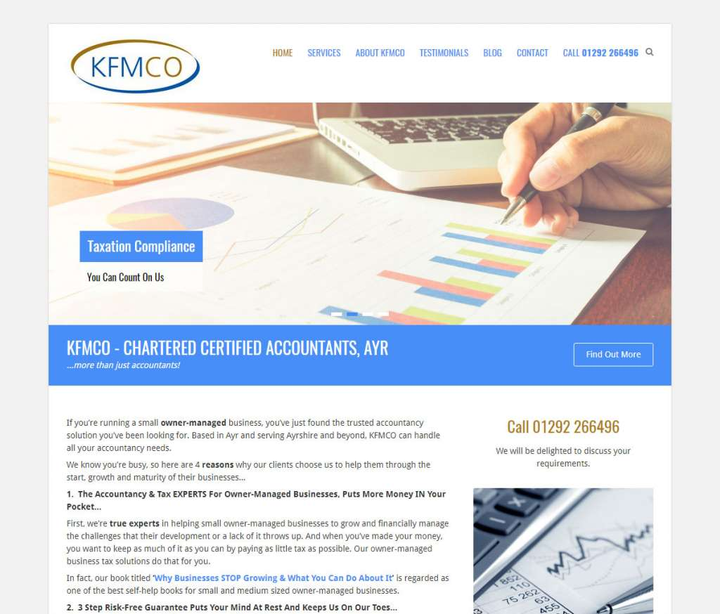 KFMCO Accountants Web Design Ayr