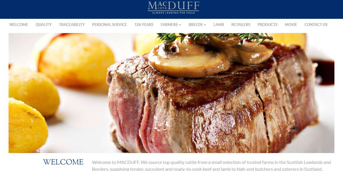 MACDUFF Beef website design for Scottish meat wholesaler