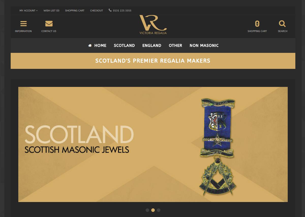 Victoria Regalia OpenCart 3 Site