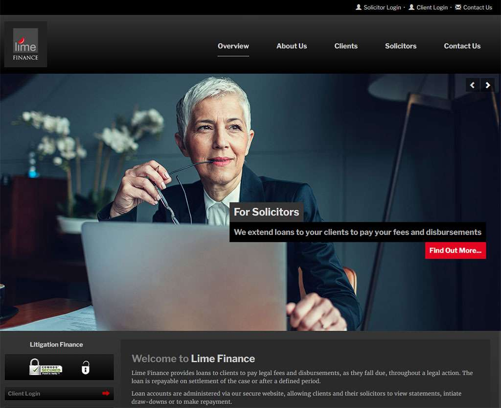 lime-finance-litigation-finance-solicitors-website-design