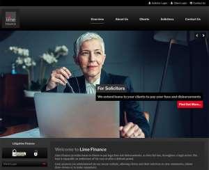 Lime Finance - Litigation finance CMS website development