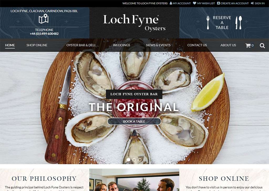 Magento eCommerce Development for Loch Fyne Oysters