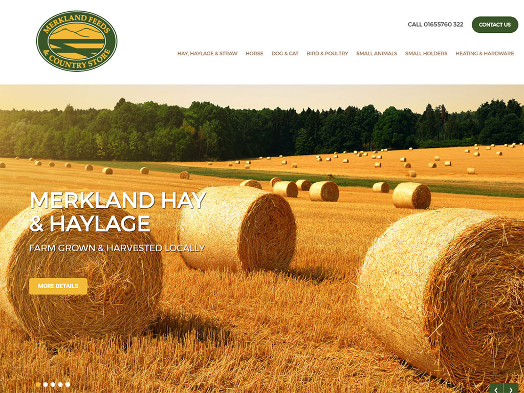 Merkland Farm Feeds website