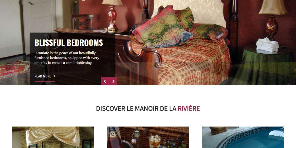 Le Manoir de la Riviere – CMS web development for guest house in France