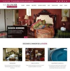 Le Manoir de la Riviere - CMS web development for guest house in France
