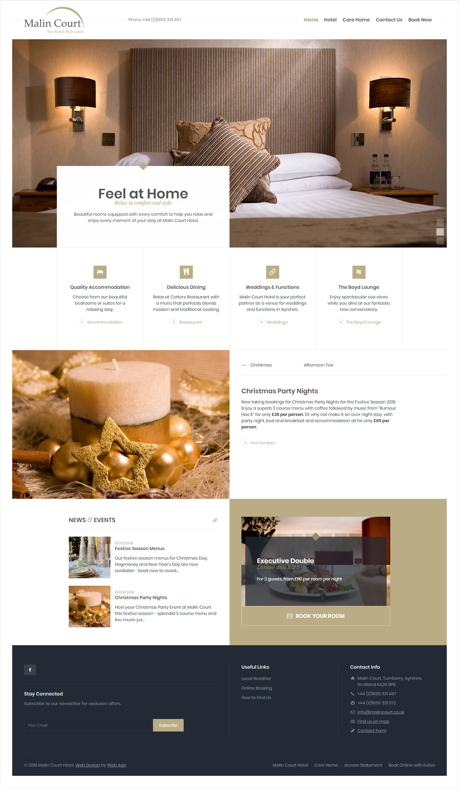 Malin Court Hotel - web design for hotel
