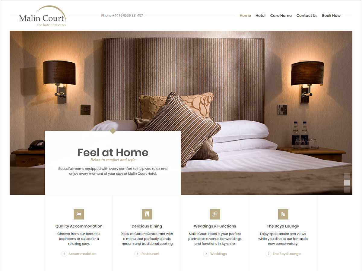 Malin Court Website Design