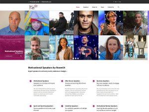 Website solutions: design for Room54 motivational-speakers.co.uk - keynote speaker agency