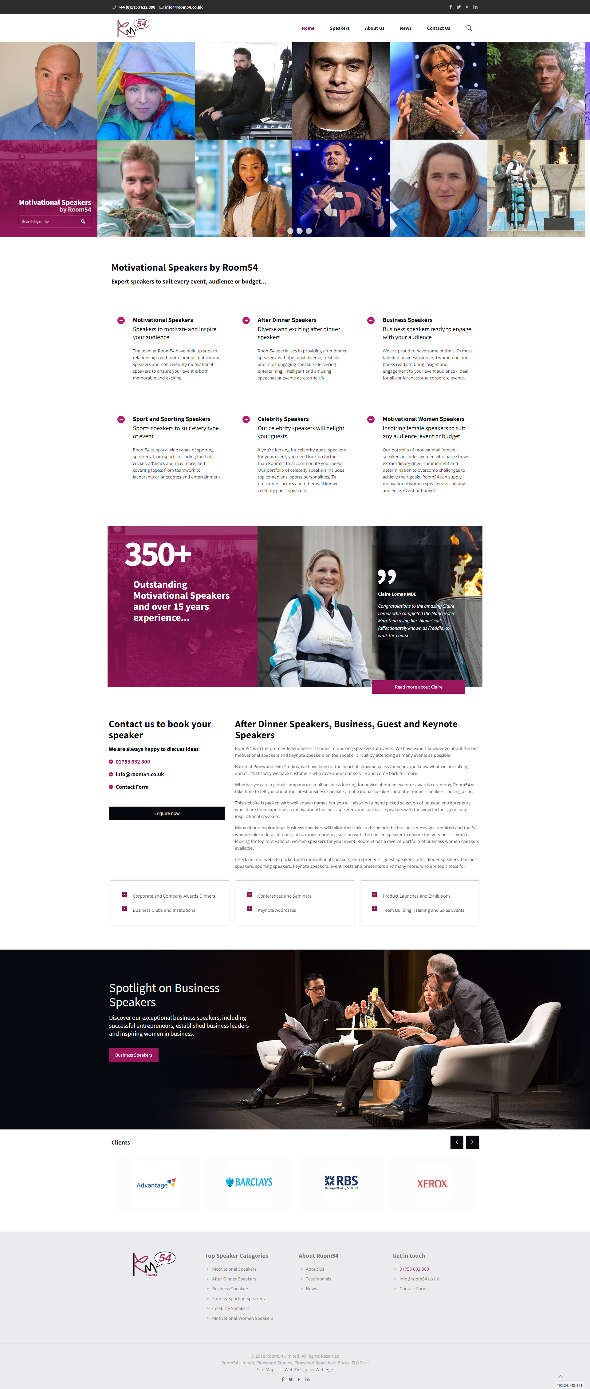Web design and development for motivational-speakers.co.uk