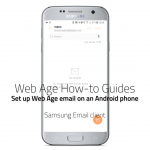 How to set up Web Age email on a Samsung Android phone