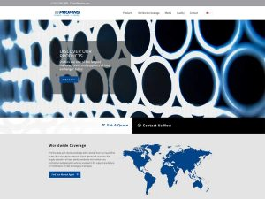 Profins - web design for industrial manufacturing and engineering company