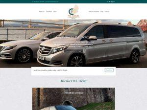 Web design for chauffeur hire business WL Sleigh