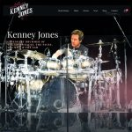 Web design for musician Kenney Jones