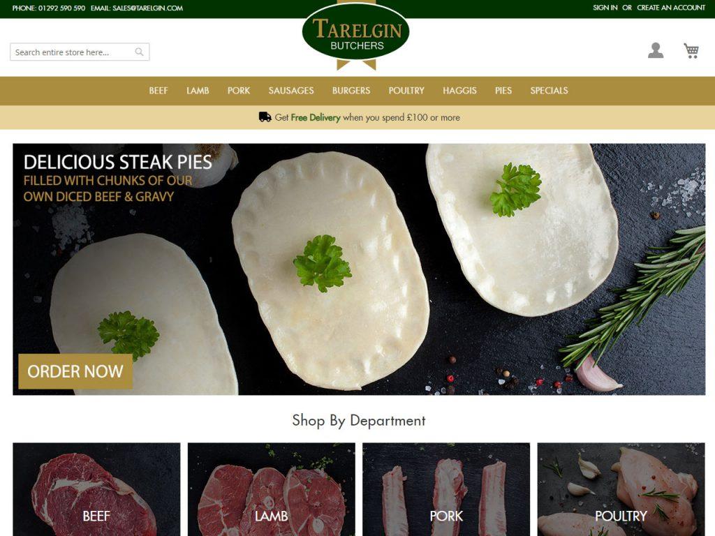 Tarelgin Butchers Website