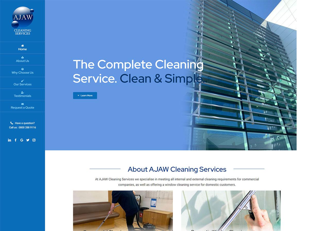 AJAW Cleaning Services WordPress Development