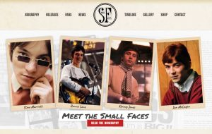 The Small Faces website
