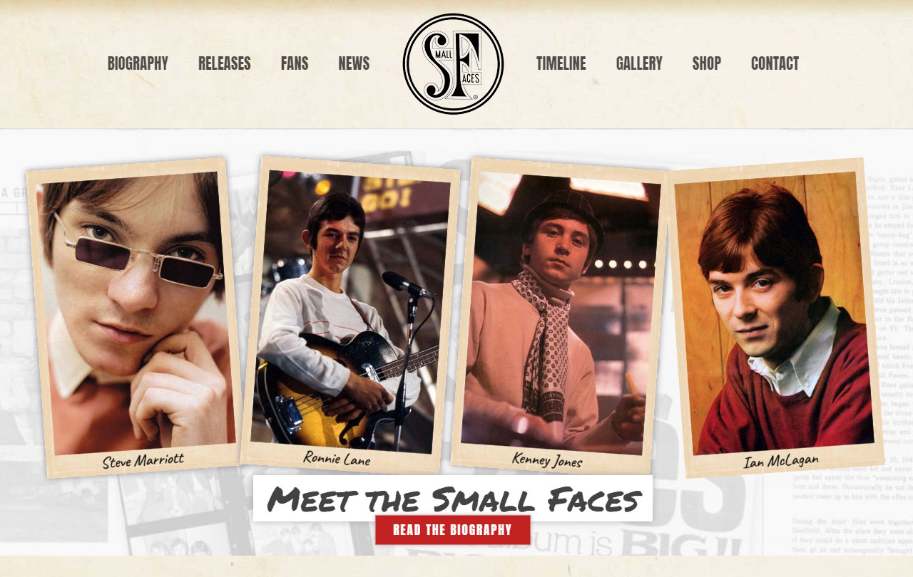 Small Faces website
